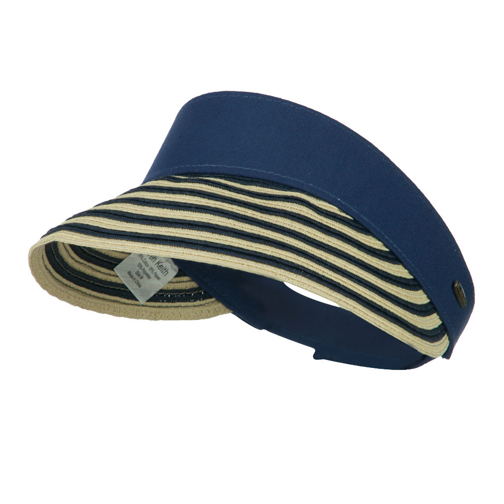 UPF 50+ Toyo Paper Braid Visor - Navy - Hats and Caps Online Shop - Hip Head Gear
