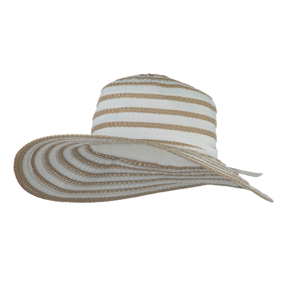 UPF 40+ Toast Striped Crushable Hat - White - Hats and Caps Online Shop - Hip Head Gear