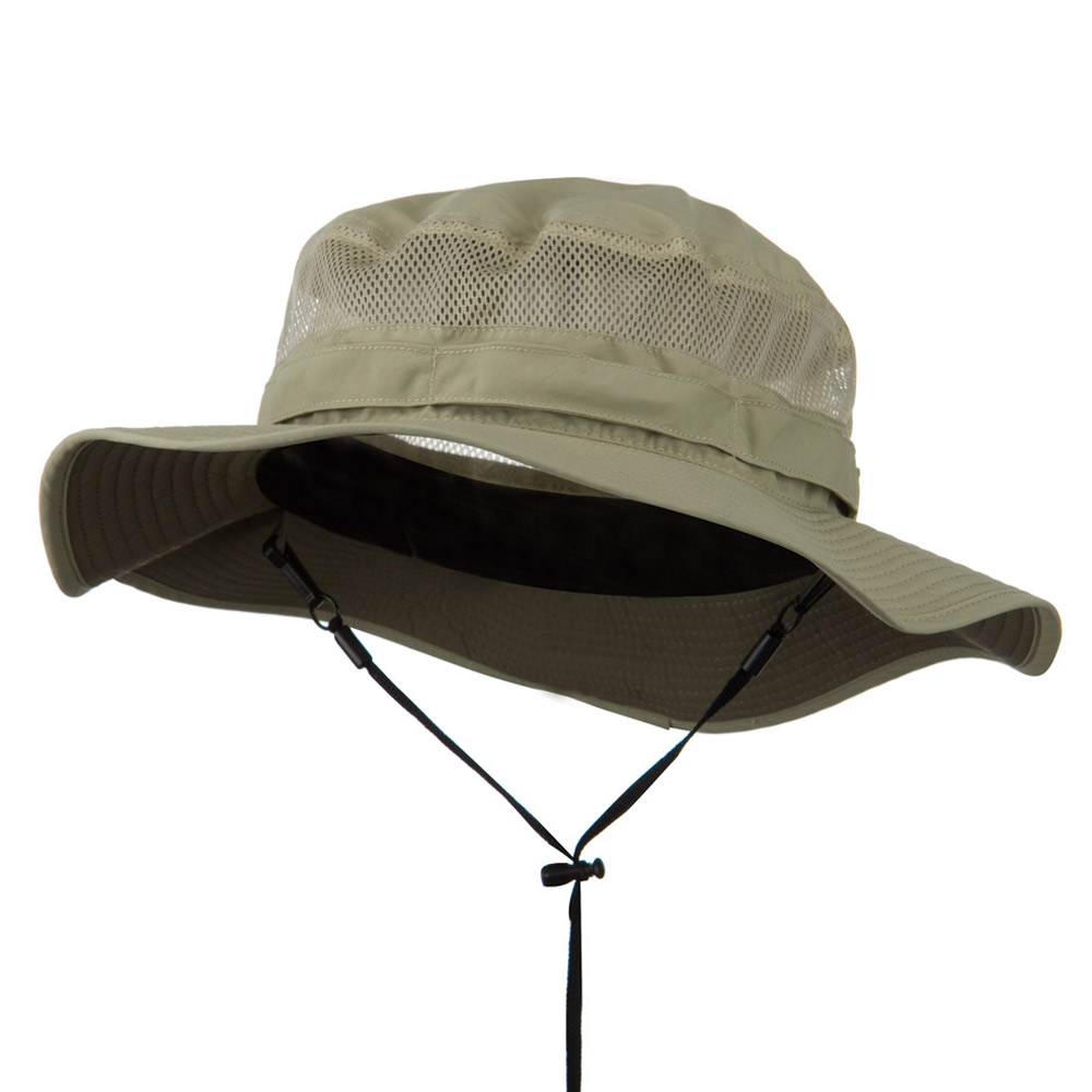Big Size Taslon UV Bucket Hat - Khaki - Hats and Caps Online Shop - Hip Head Gear