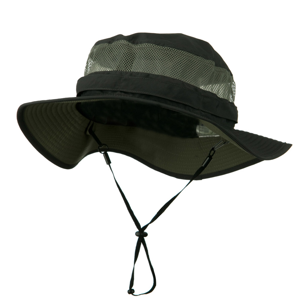 Big Size Taslon UV Bucket Hat - Charcoal - Hats and Caps Online Shop - Hip Head Gear