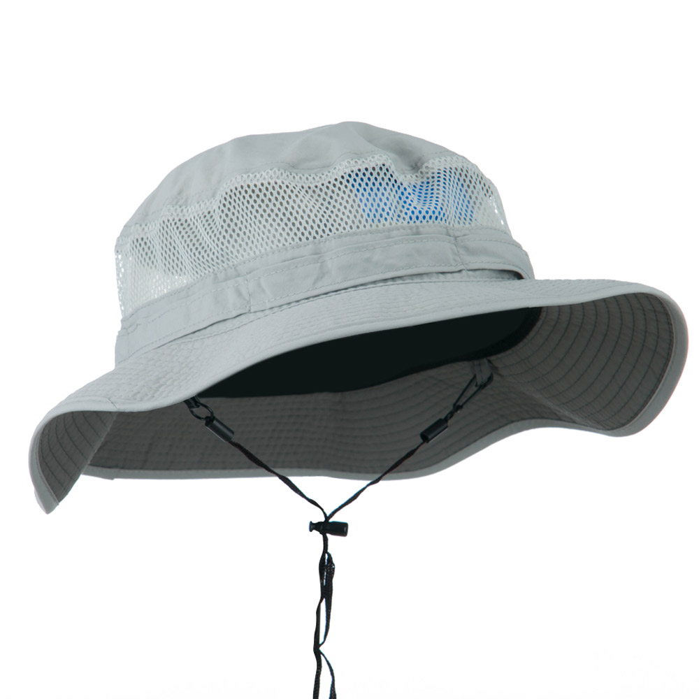 Big Size Taslon UV Bucket Hat - Grey - Hats and Caps Online Shop - Hip Head Gear