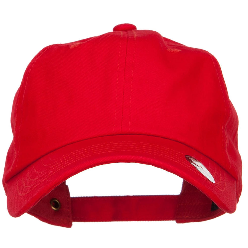 Unstructured Cotton Twill Washed Cap - Red
