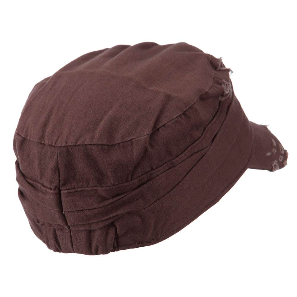 Vintage Army Cap - Brown - Hats and Caps Online Shop - Hip Head Gear