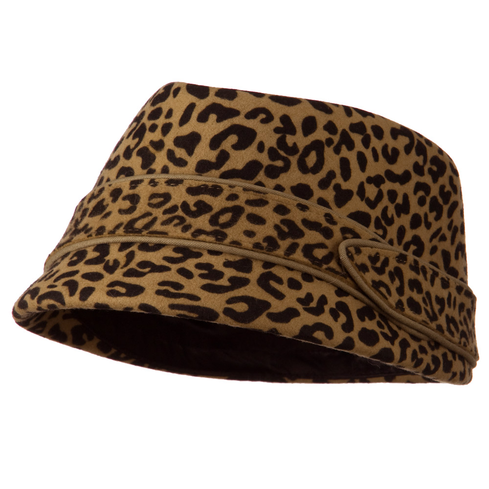 Vintage Cadet Hat - Brown Cheetah - Hats and Caps Online Shop - Hip Head Gear