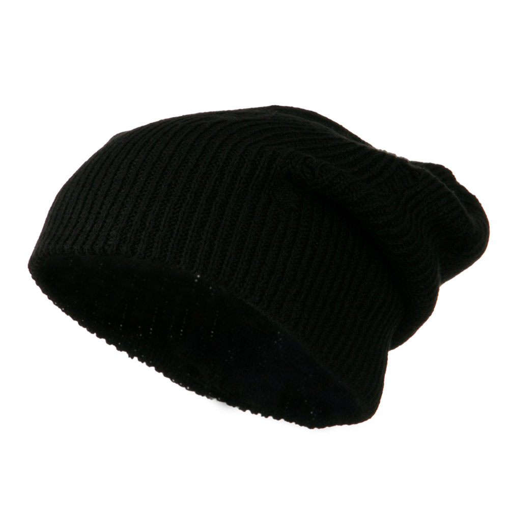 Vintage Deep Shell Beanie - Black - Hats and Caps Online Shop - Hip Head Gear