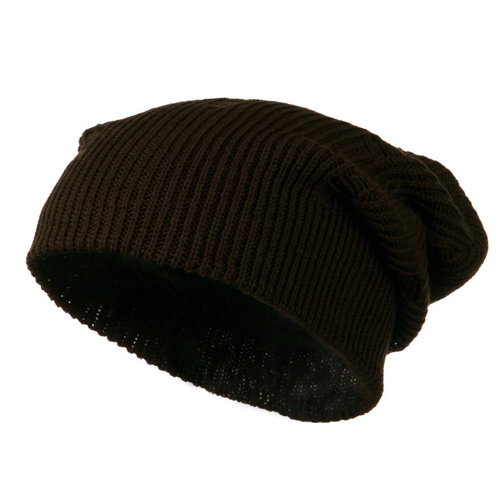 Vintage Deep Shell Beanie - Brown - Hats and Caps Online Shop - Hip Head Gear