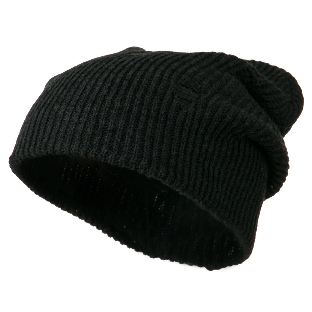 Vintage Deep Shell Beanie - Charcoal - Hats and Caps Online Shop - Hip Head Gear