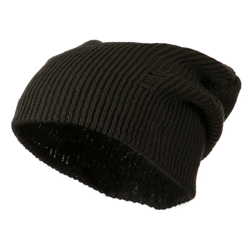 Vintage Deep Shell Beanie - Olive - Hats and Caps Online Shop - Hip Head Gear