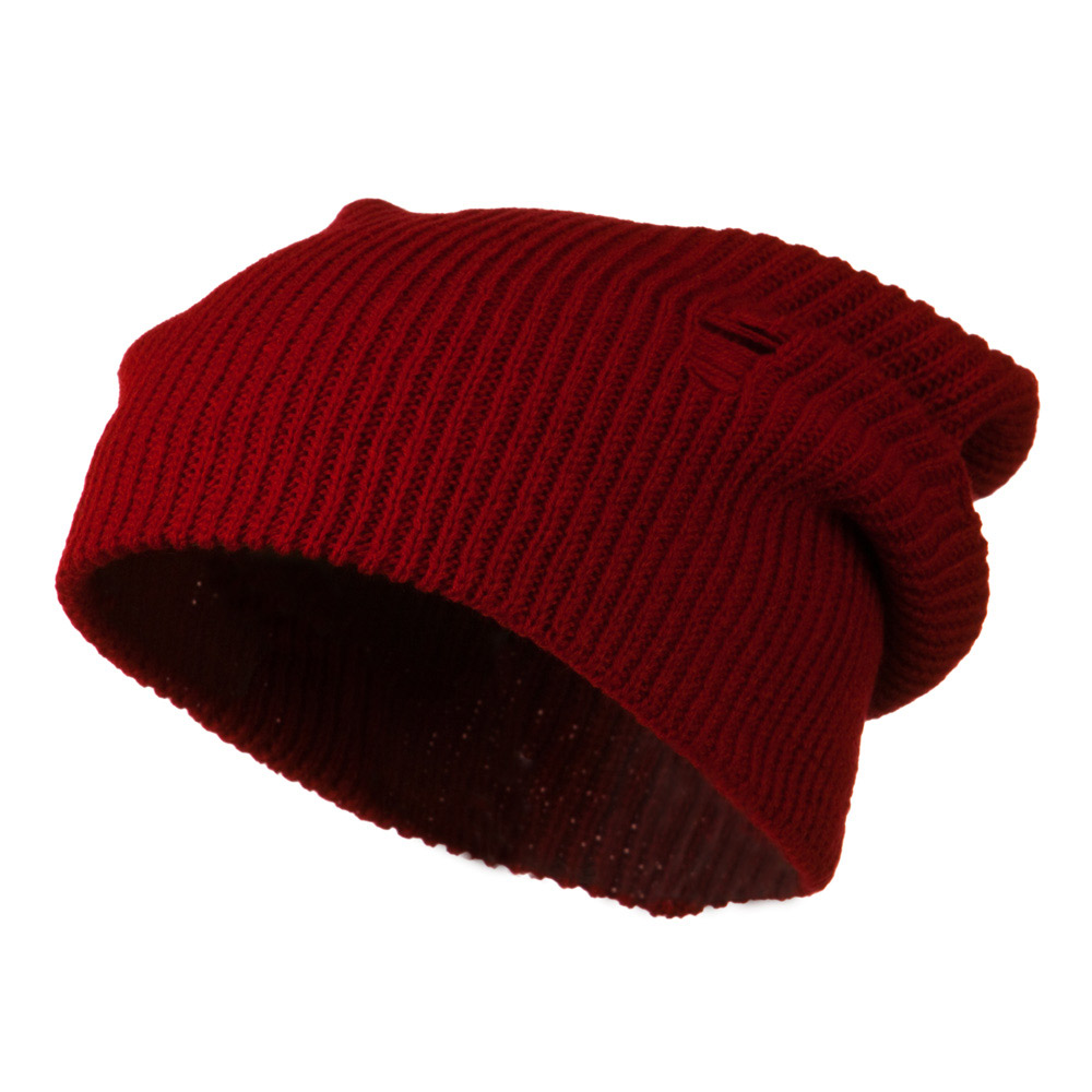Vintage Deep Shell Beanie - Red - Hats and Caps Online Shop - Hip Head Gear