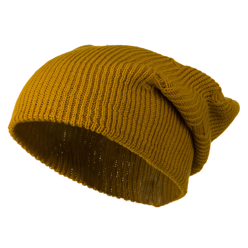Vintage Deep Shell Beanie - Mustard - Hats and Caps Online Shop - Hip Head Gear