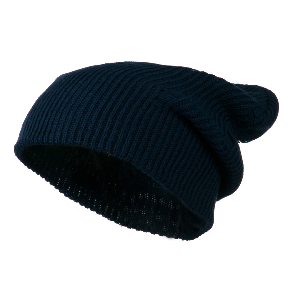 Vintage Deep Shell Beanie - Navy - Hats and Caps Online Shop - Hip Head Gear