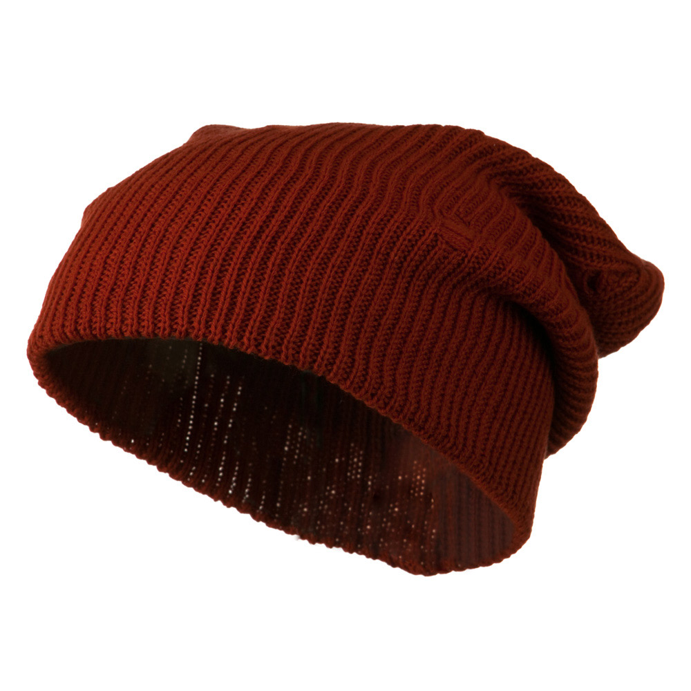 Vintage Deep Shell Beanie - Rust - Hats and Caps Online Shop - Hip Head Gear