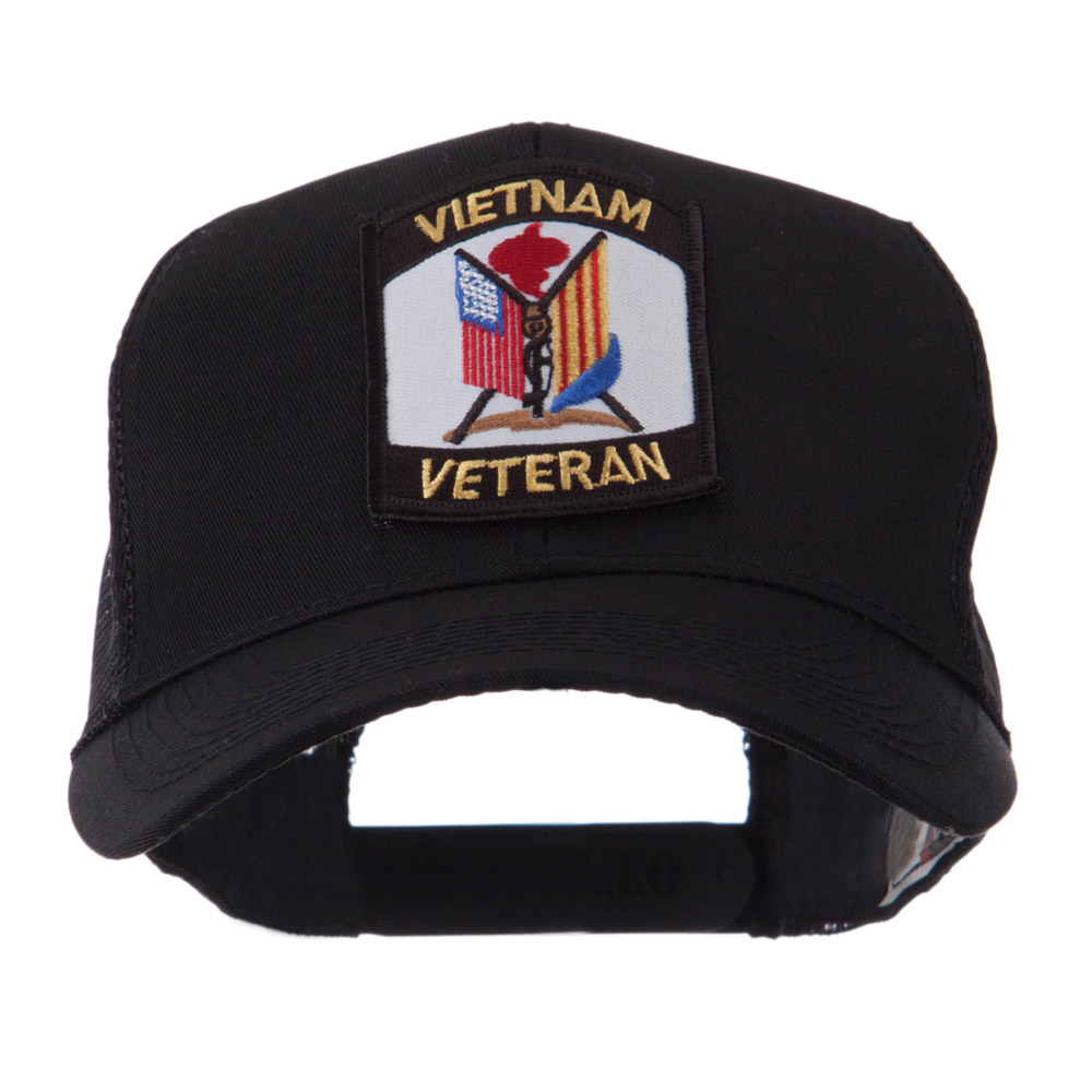 Veteran Embroidered Military Patched Mesh Cap - Vietnam Vet