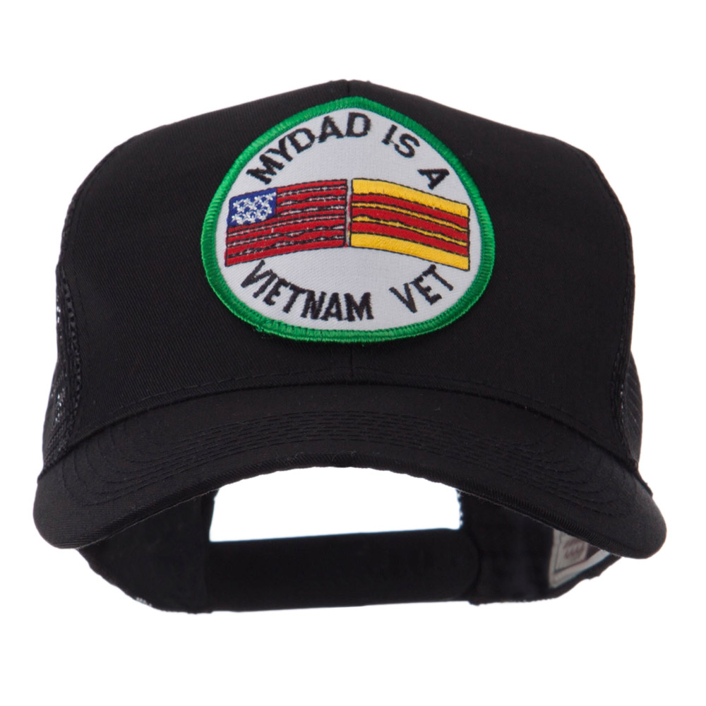 Veteran Embroidered Military Patched Mesh Cap - My Dad
