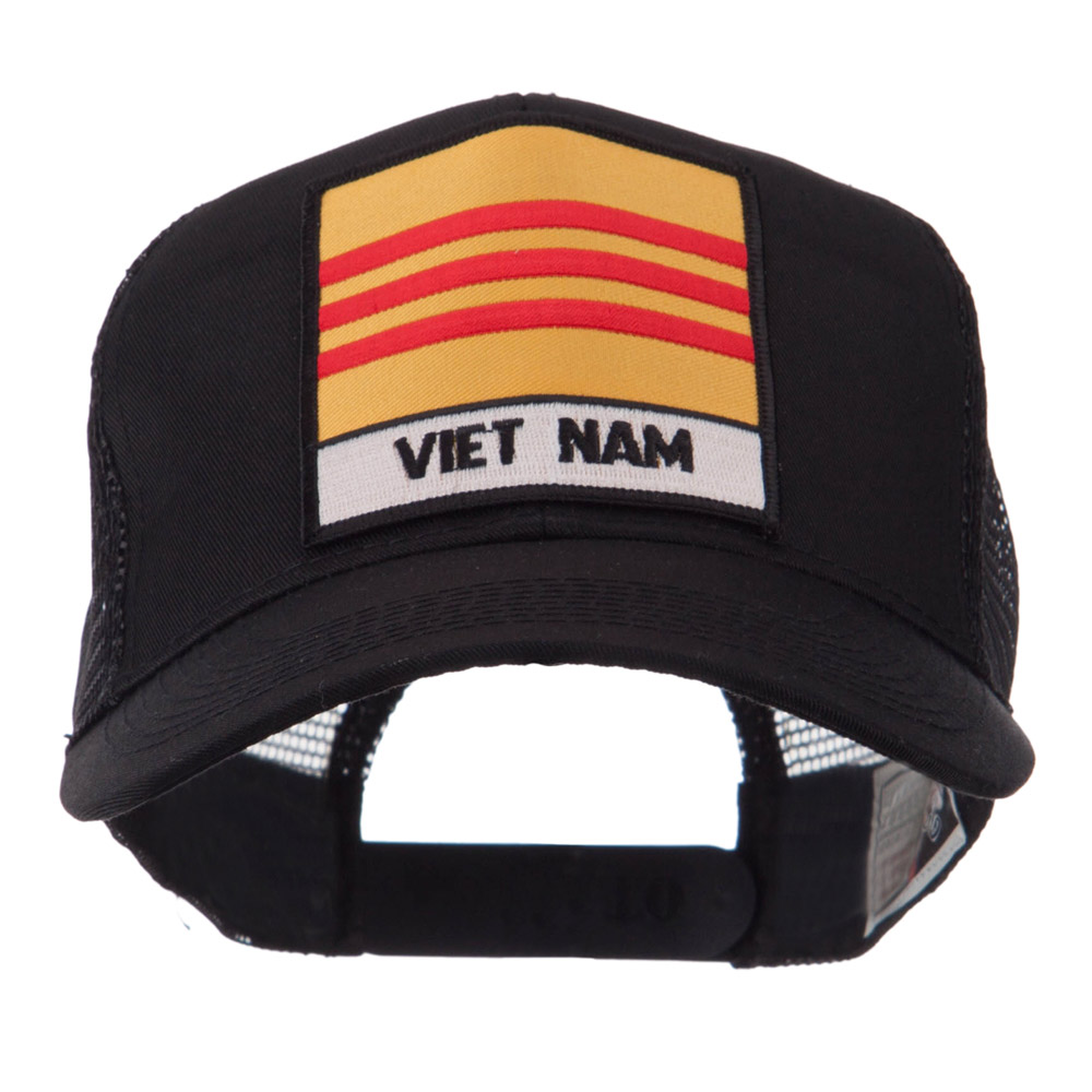 Veteran Embroidered Military Patched Mesh Cap - Vietnam