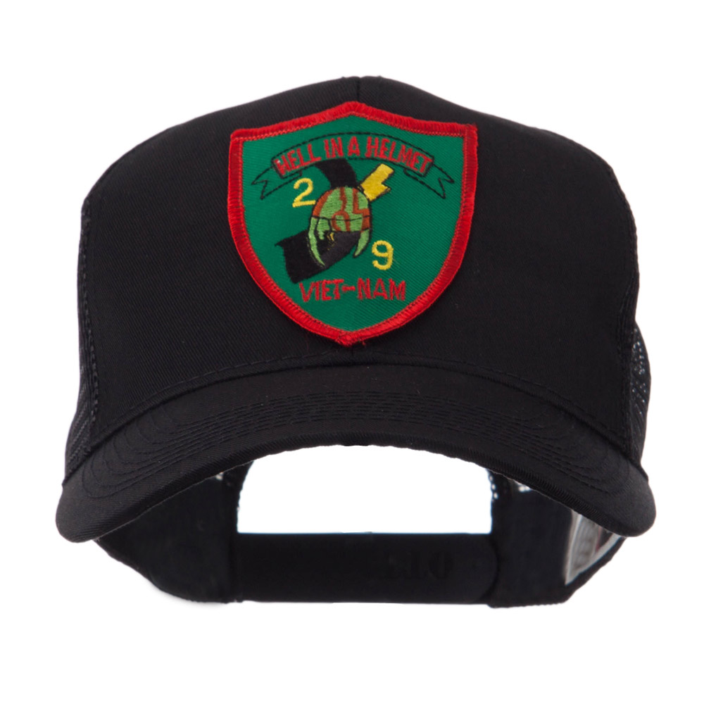 Veteran Embroidered Military Patched Mesh Cap - Helmet
