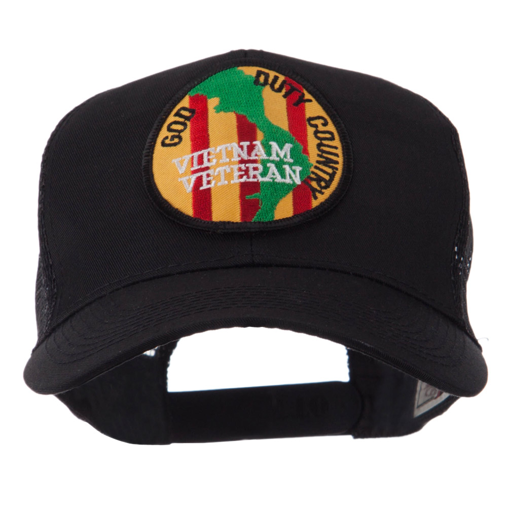 Veteran Embroidered Military Patched Mesh Cap - Vietnam Vet 2