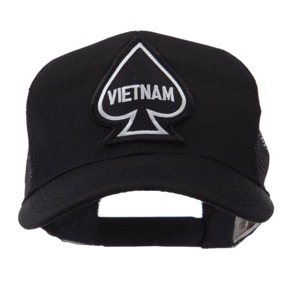 Veteran Embroidered Military Patched Mesh Cap - Vietnam Ace