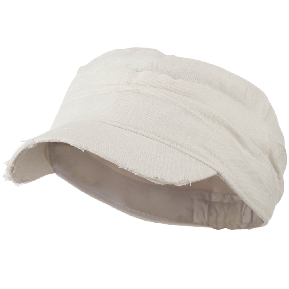Vintage Frayed Army Cap - White - Hats and Caps Online Shop - Hip Head Gear