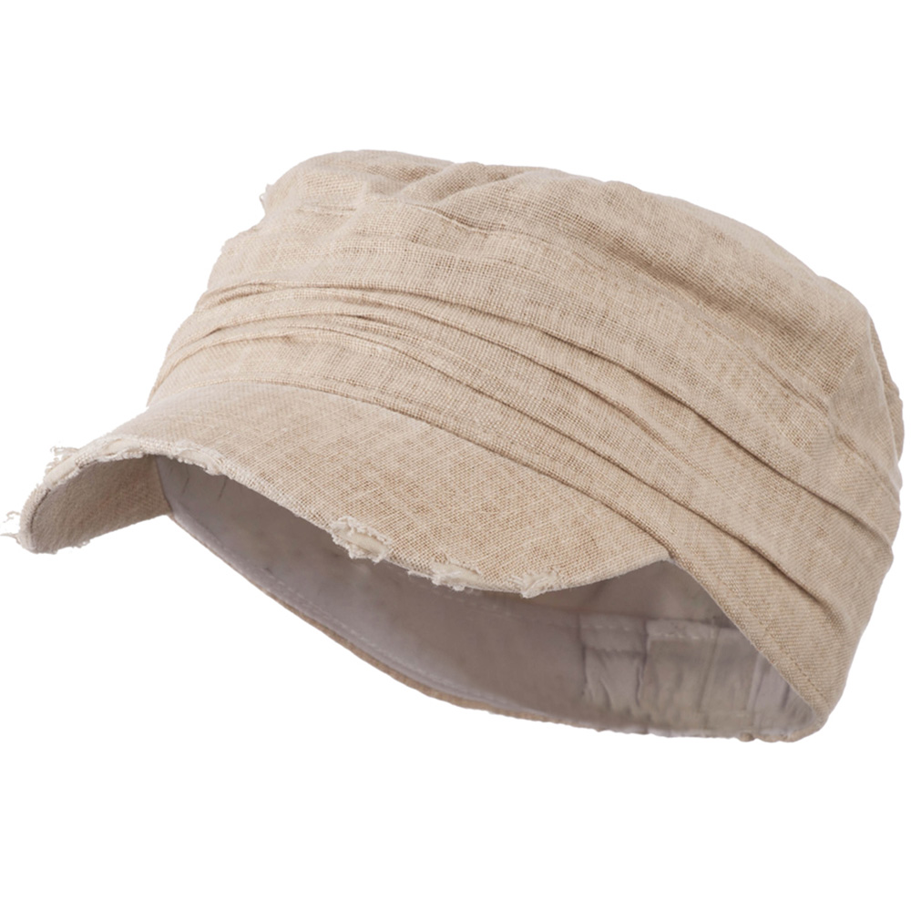 Vintage Frayed Army Cap - Tan - Hats and Caps Online Shop - Hip Head Gear