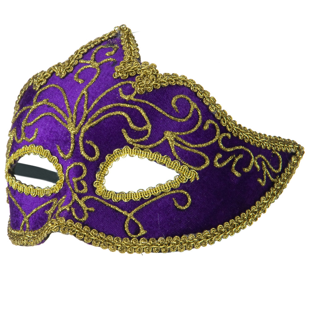 Velour and Gold Mask - Purple Gold - Hats and Caps Online Shop - Hip Head Gear