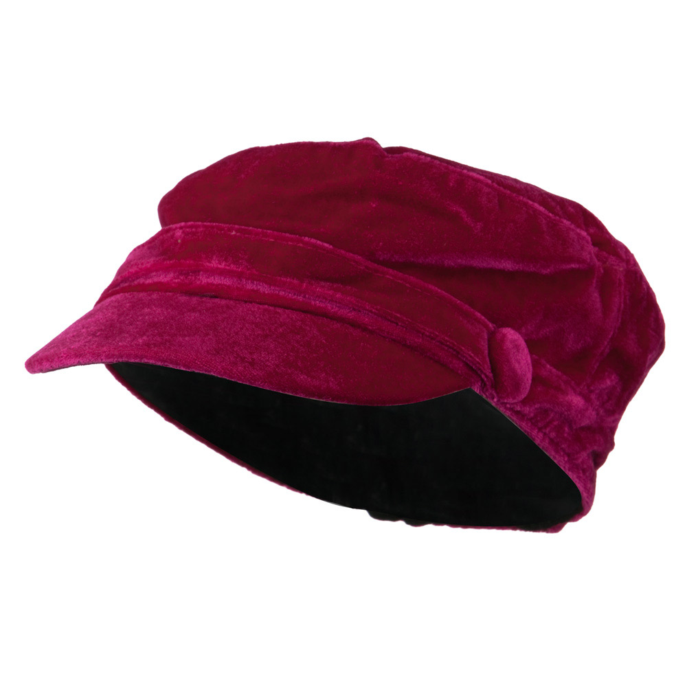 Velvet Military Hats For Kids - Fuchsia - Hats and Caps Online Shop - Hip Head Gear