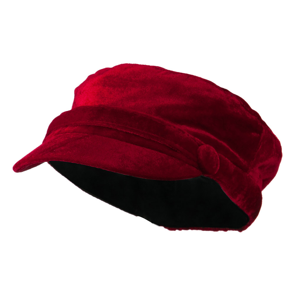 Velvet Military Hats For Kids - Red - Hats and Caps Online Shop - Hip Head Gear