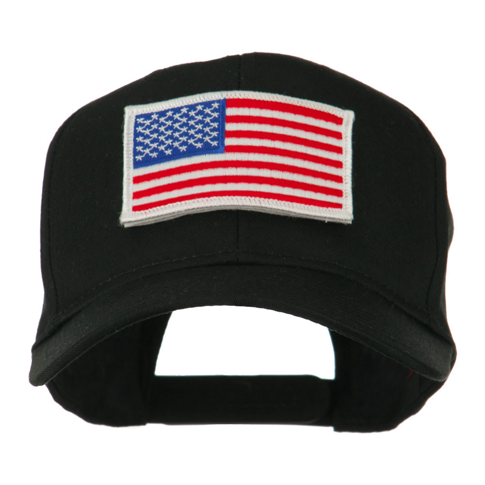 American Flag Velcrorized Patch Cap - Black - Hats and Caps Online Shop - Hip Head Gear