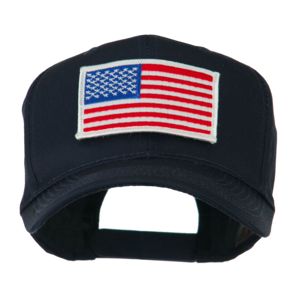 American Flag Velcrorized Patch Cap - Navy - Hats and Caps Online Shop - Hip Head Gear