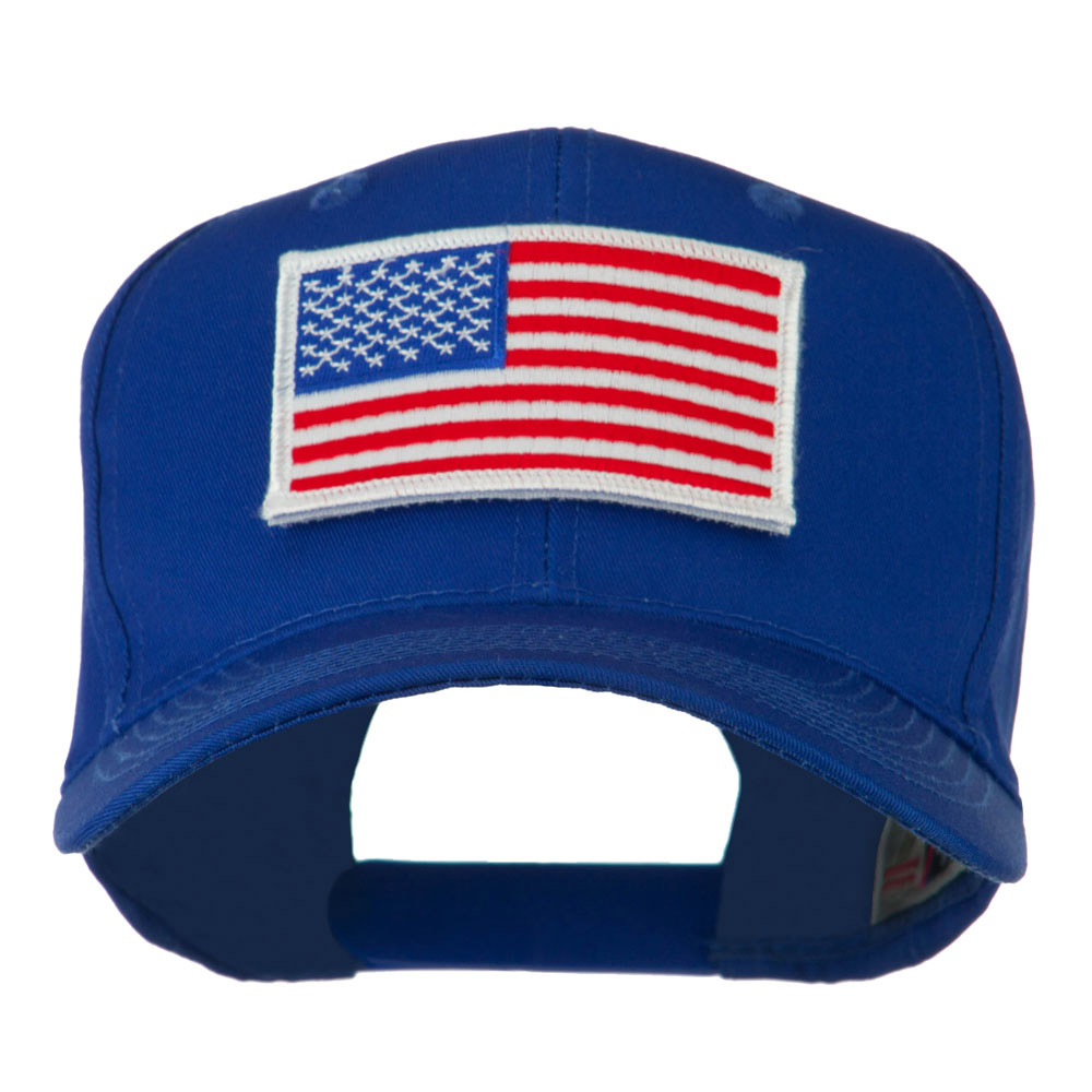 American Flag Velcrorized Patch Cap - Royal - Hats and Caps Online Shop - Hip Head Gear