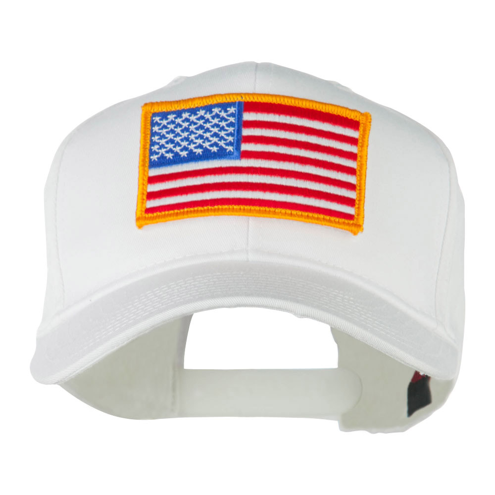 American Flag Velcrorized Patch Cap - White - Hats and Caps Online Shop - Hip Head Gear