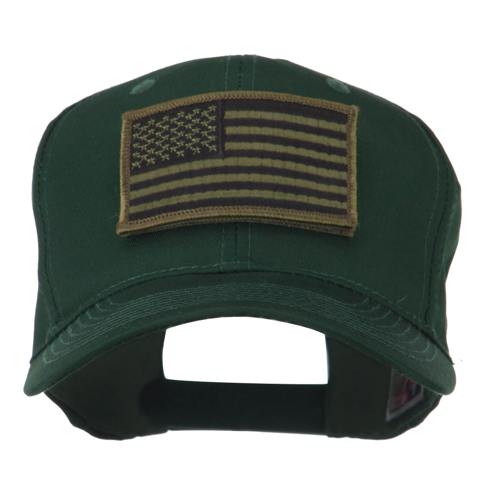 American Flag Velcrorized Patch Cap - Green - Hats and Caps Online Shop - Hip Head Gear