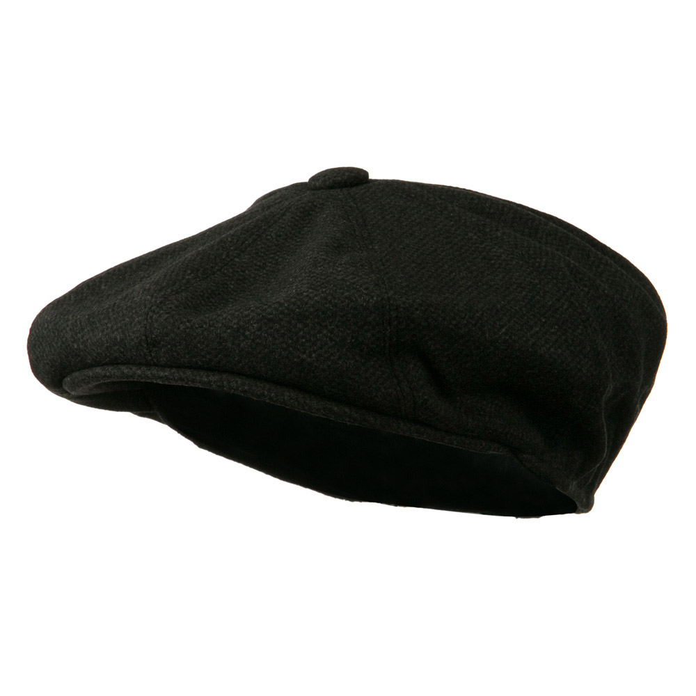 Adjustable 8 Panel Wool Apple - Black Heather - Hats and Caps Online Shop - Hip Head Gear