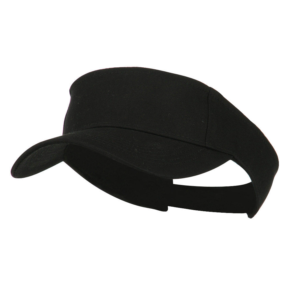 Ace Cotton Twill Visor - Black - Hats and Caps Online Shop - Hip Head Gear