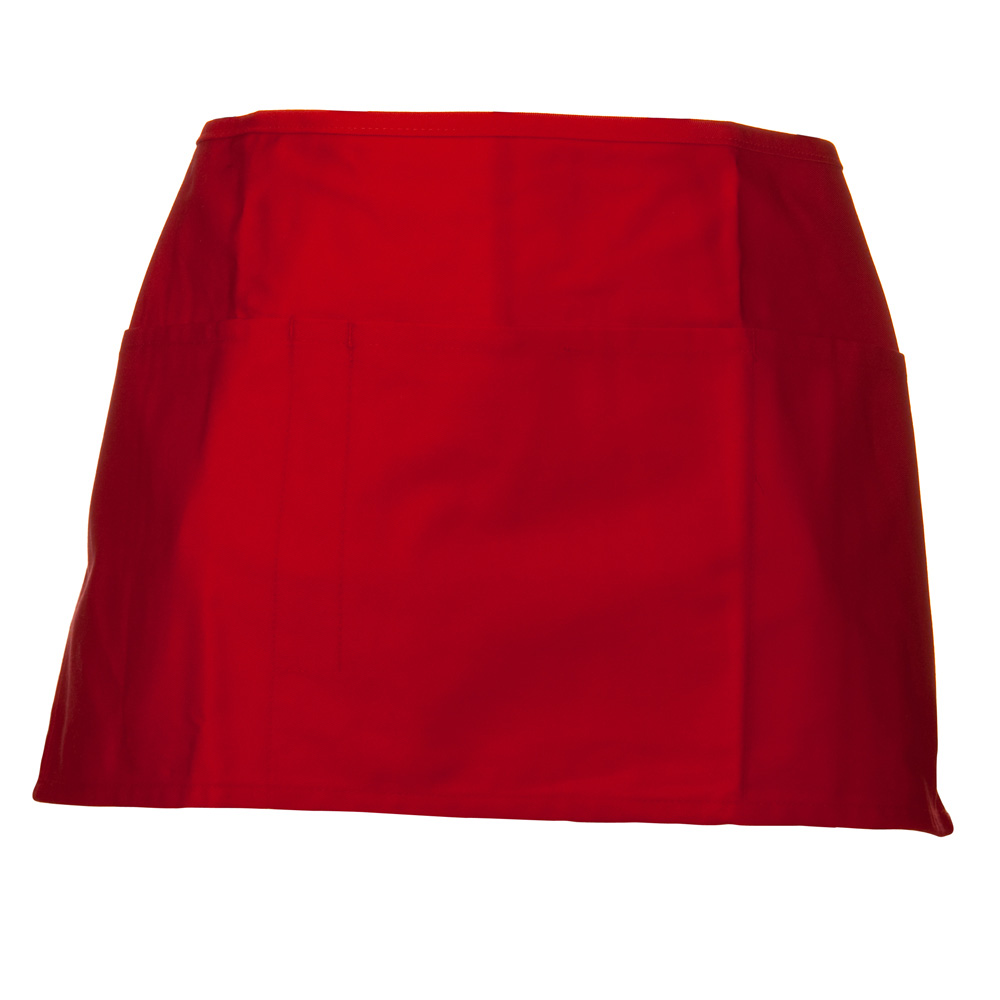 Soil Release Easy Care Waist Apron - Red