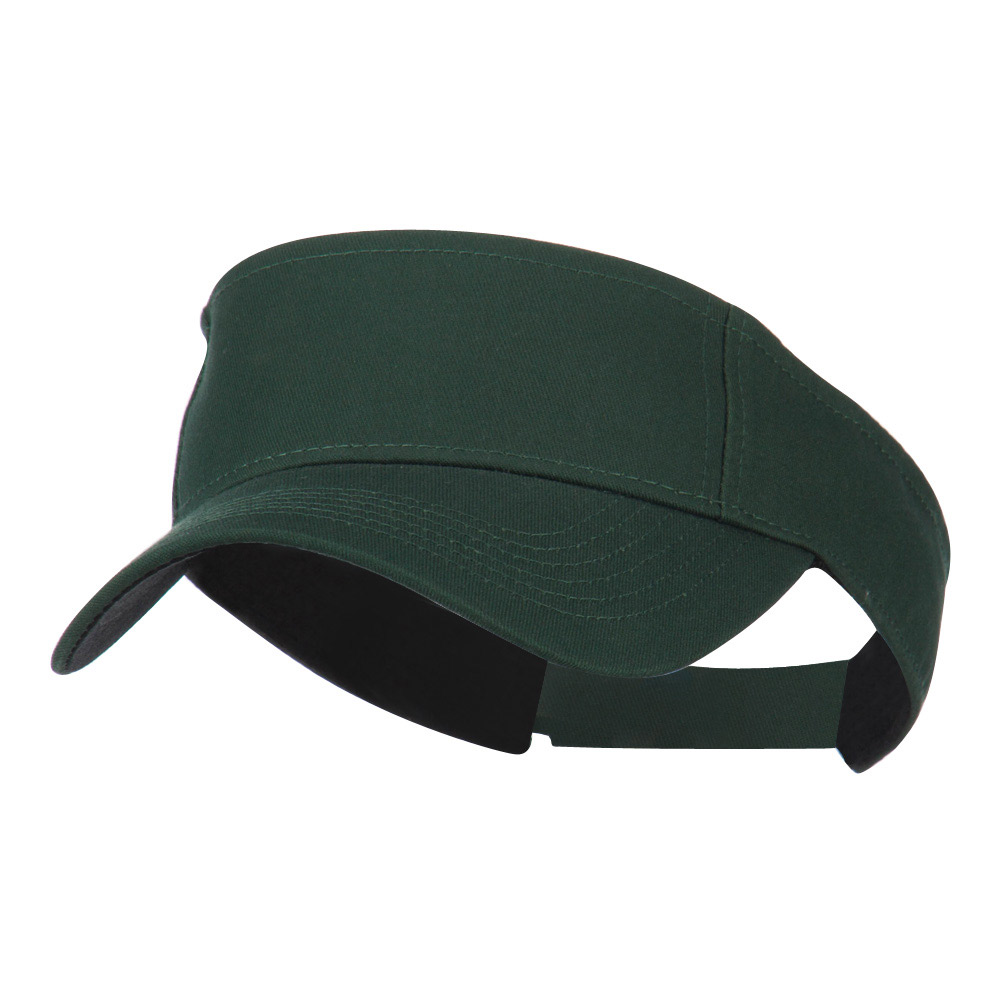 Ace Cotton Twill Visor - Forest Green - Hats and Caps Online Shop - Hip Head Gear