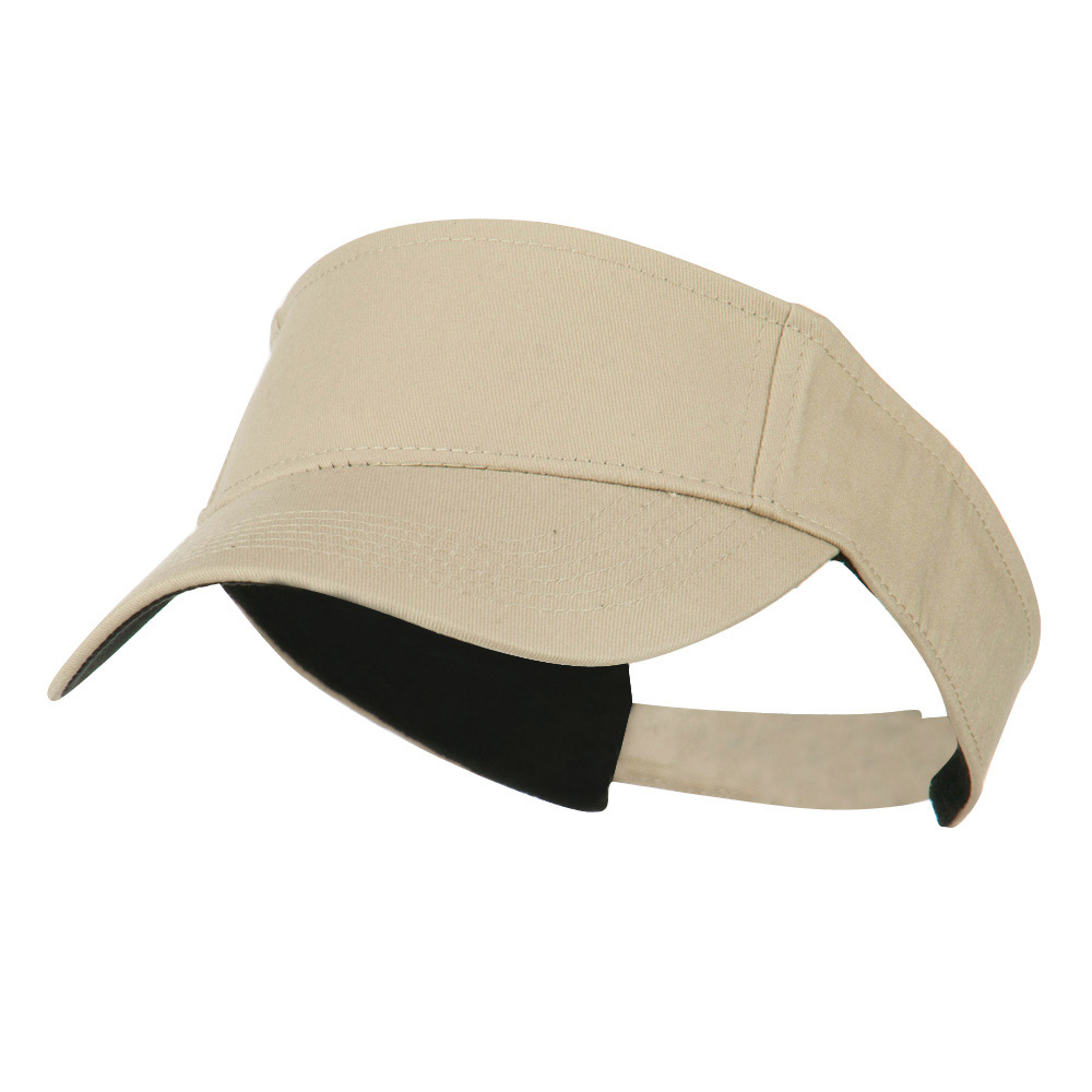 Ace Cotton Twill Visor - Khaki - Hats and Caps Online Shop - Hip Head Gear