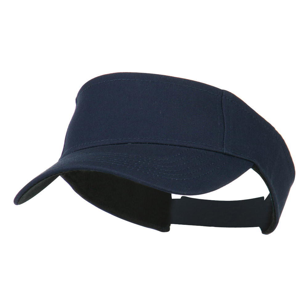 Ace Cotton Twill Visor - Navy - Hats and Caps Online Shop - Hip Head Gear