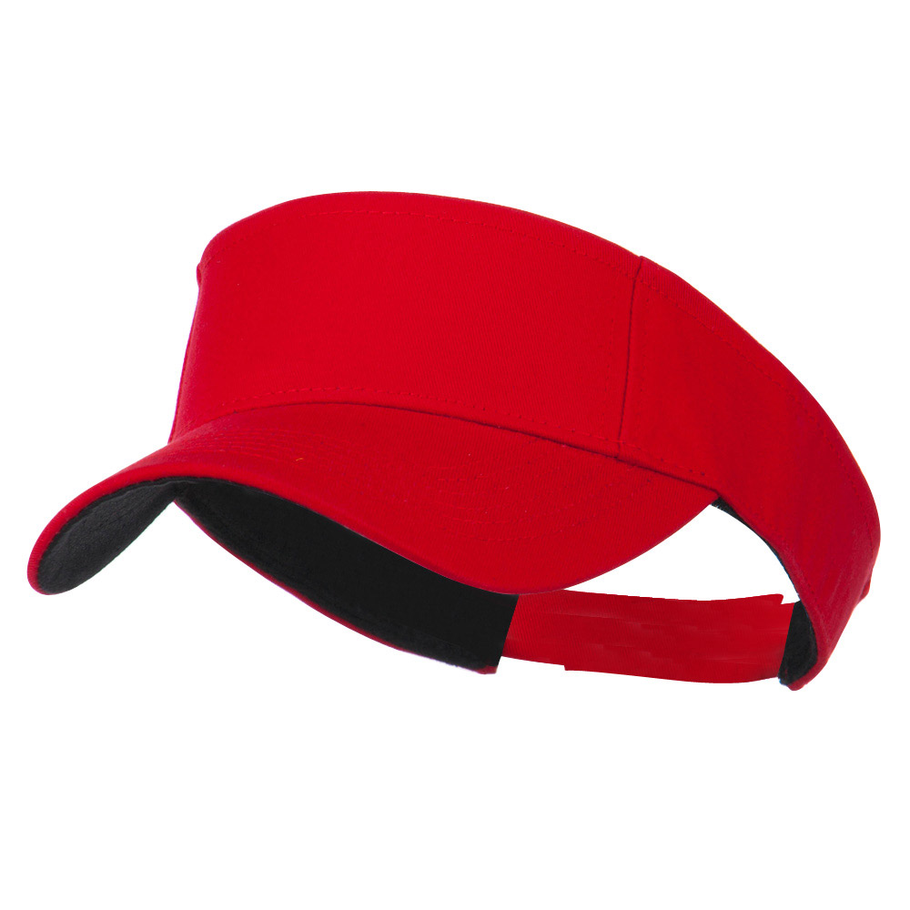 Ace Cotton Twill Visor - Red - Hats and Caps Online Shop - Hip Head Gear