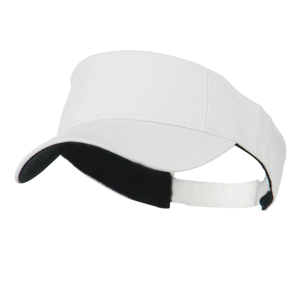 Ace Cotton Twill Visor - White - Hats and Caps Online Shop - Hip Head Gear