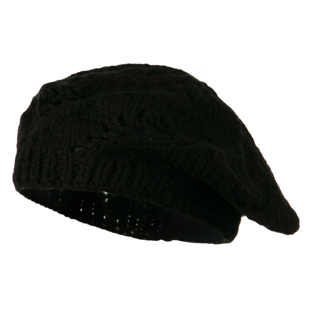 Acrylic Beret - Black - Hats and Caps Online Shop - Hip Head Gear