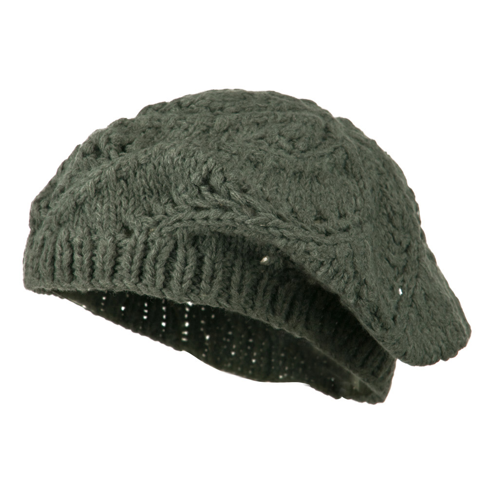 Acrylic Beret - Grey - Hats and Caps Online Shop - Hip Head Gear