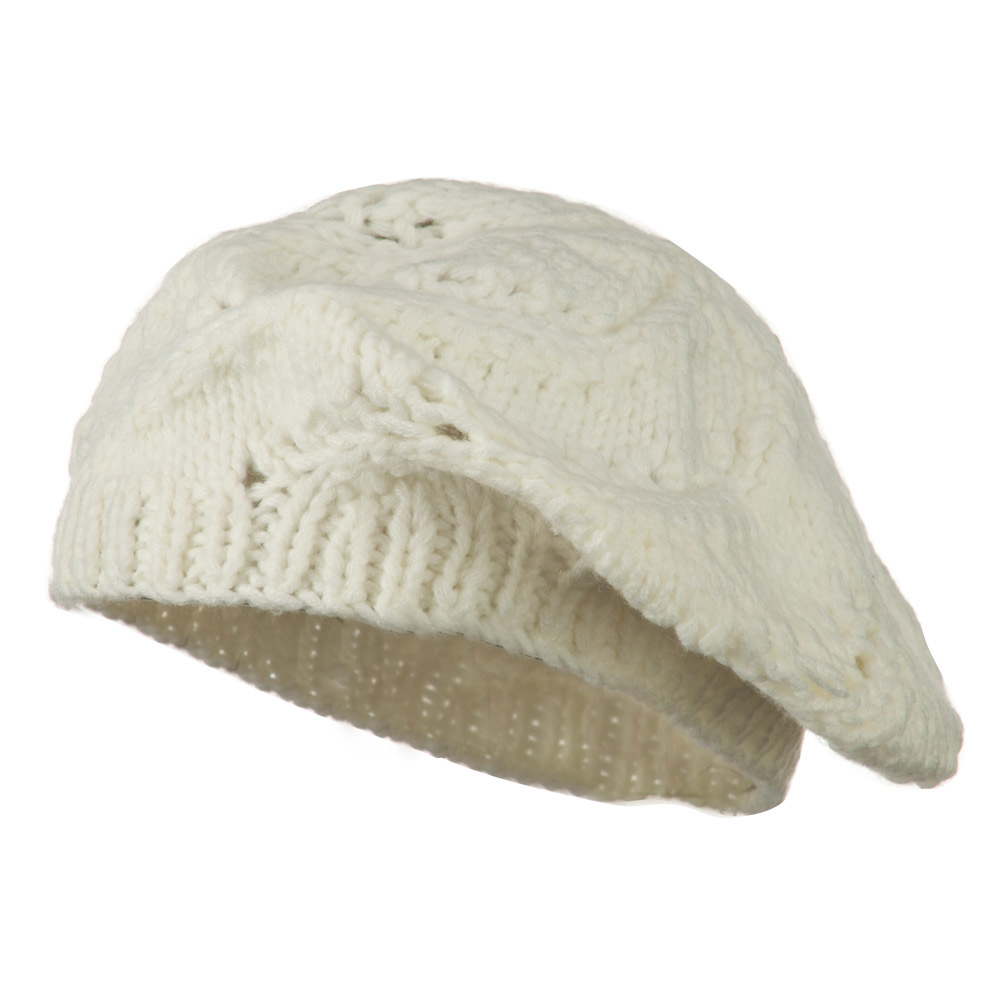 Acrylic Beret - Ivory - Hats and Caps Online Shop - Hip Head Gear