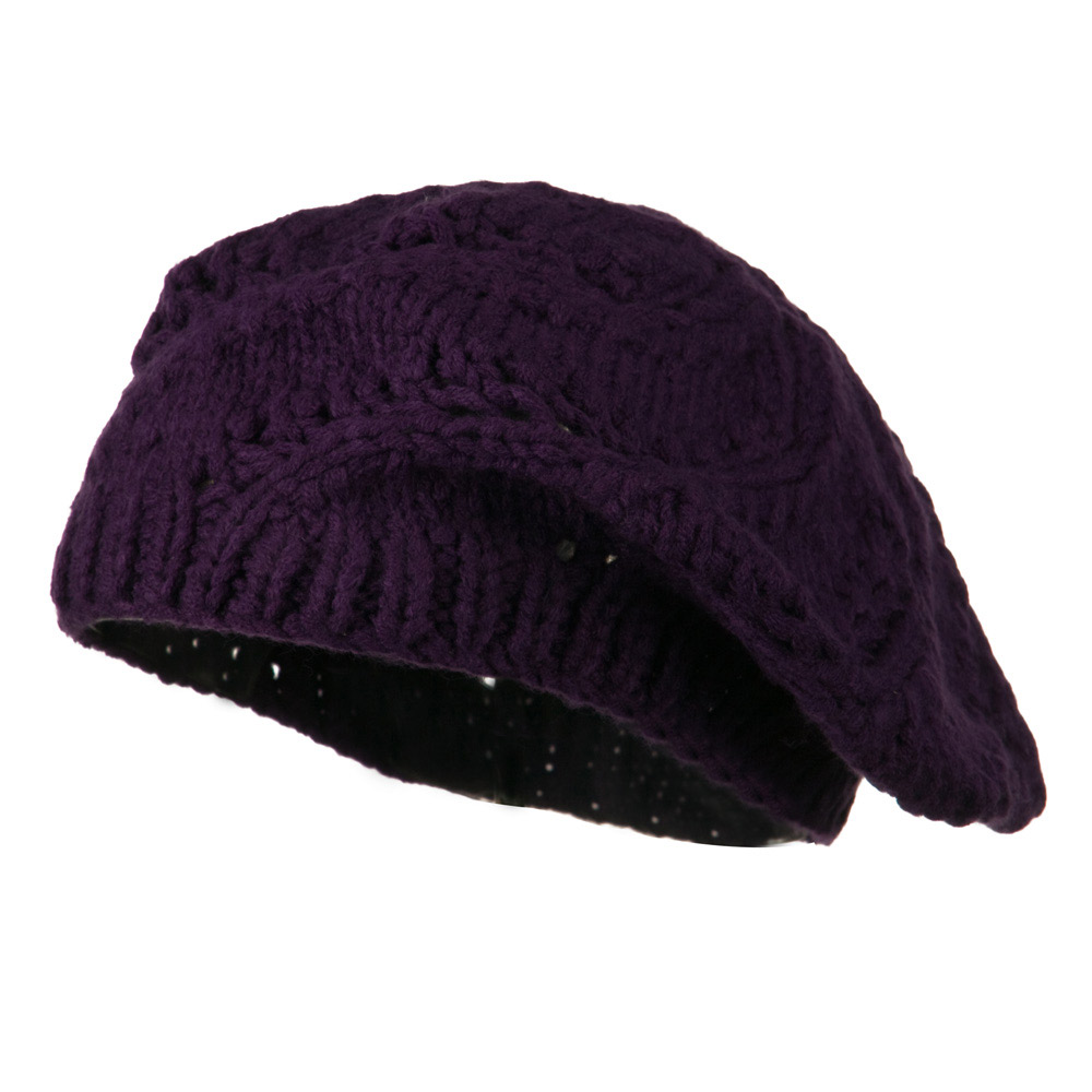 Acrylic Beret - Purple - Hats and Caps Online Shop - Hip Head Gear