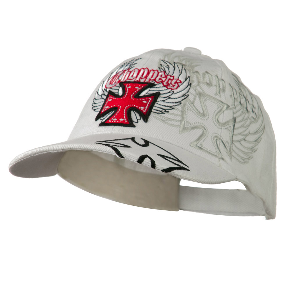 Wing Chopper Hat - White - Hats and Caps Online Shop - Hip Head Gear