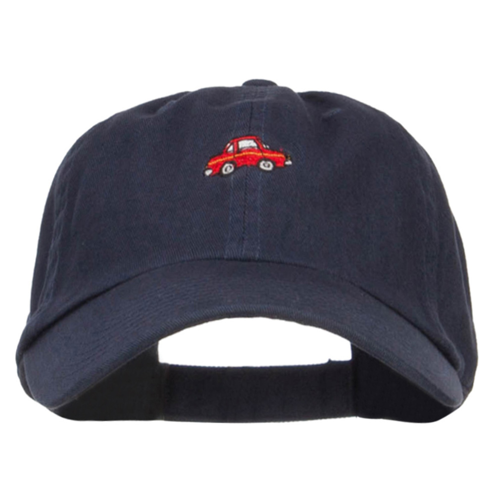 Mini Car Embroidered Low Cap - Navy