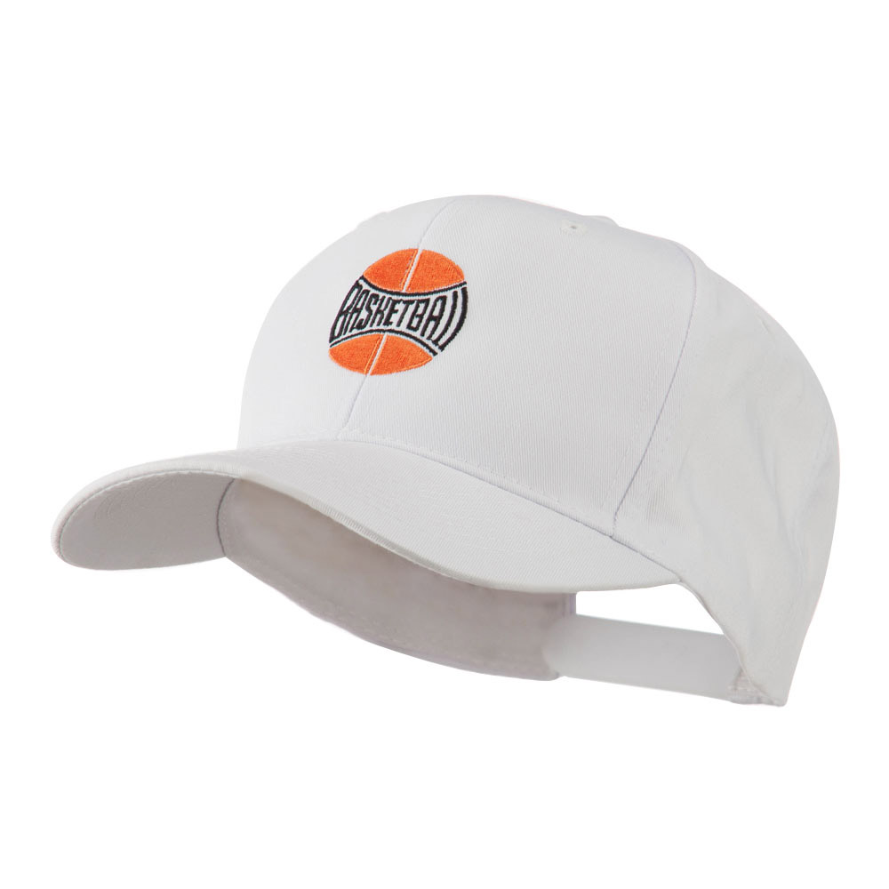 Basketball with Wording Inside Embroidered Cap - White - Hats and Caps Online Shop - Hip Head Gear