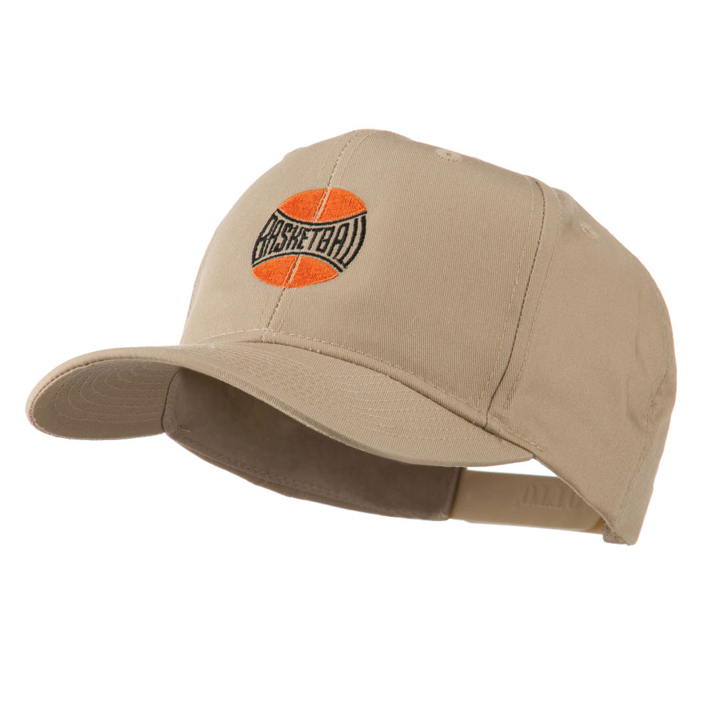 Basketball with Wording Inside Embroidered Cap - Khaki - Hats and Caps Online Shop - Hip Head Gear