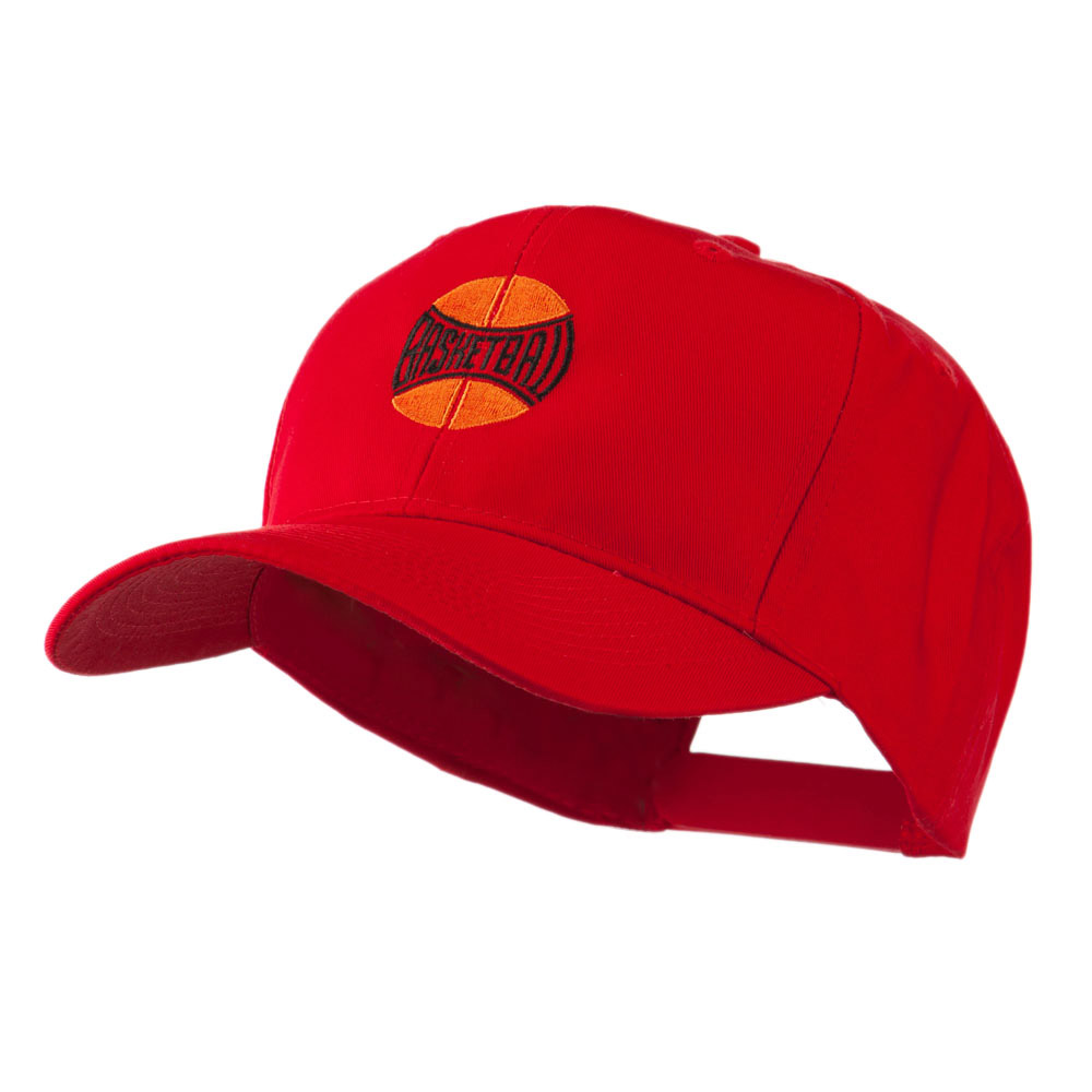 Basketball with Wording Inside Embroidered Cap - Red - Hats and Caps Online Shop - Hip Head Gear
