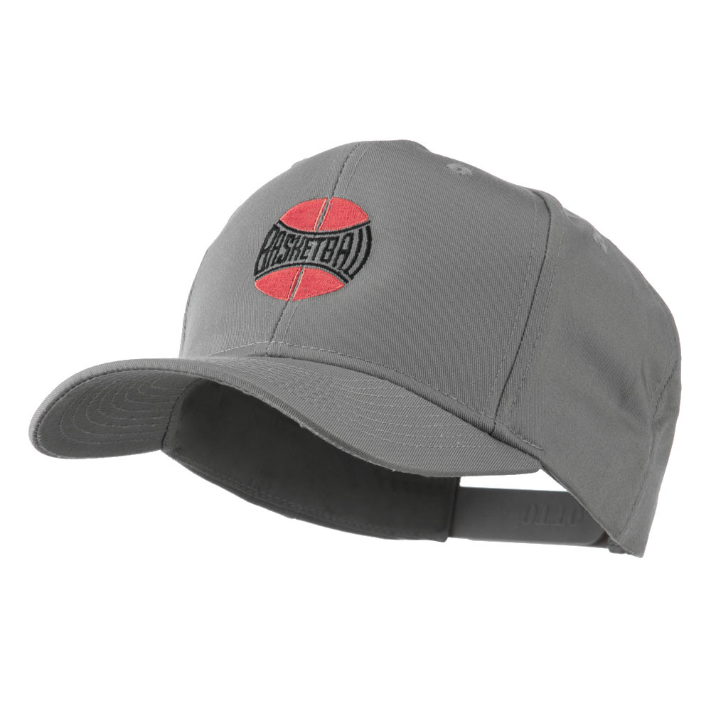 Basketball with Wording Inside Embroidered Cap - Grey - Hats and Caps Online Shop - Hip Head Gear